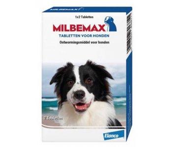 MILBEMAX Hond 25/125 mg 2 tabletten (10-75kg)