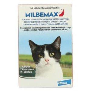 MILBEMAX Kleine Kat en Kitten 4/10 mg 2 tabletten (0,5-2kg)